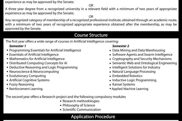 MSc/PG Diploma in Artificial Intelligence