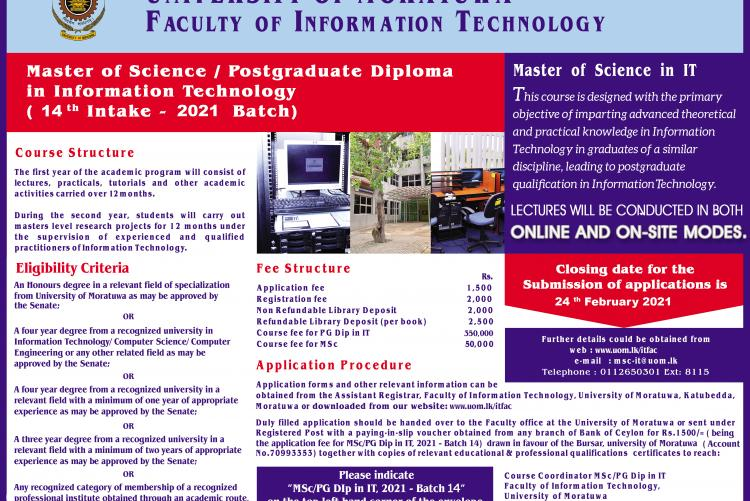 MSc /PG Diploma in Information Technology